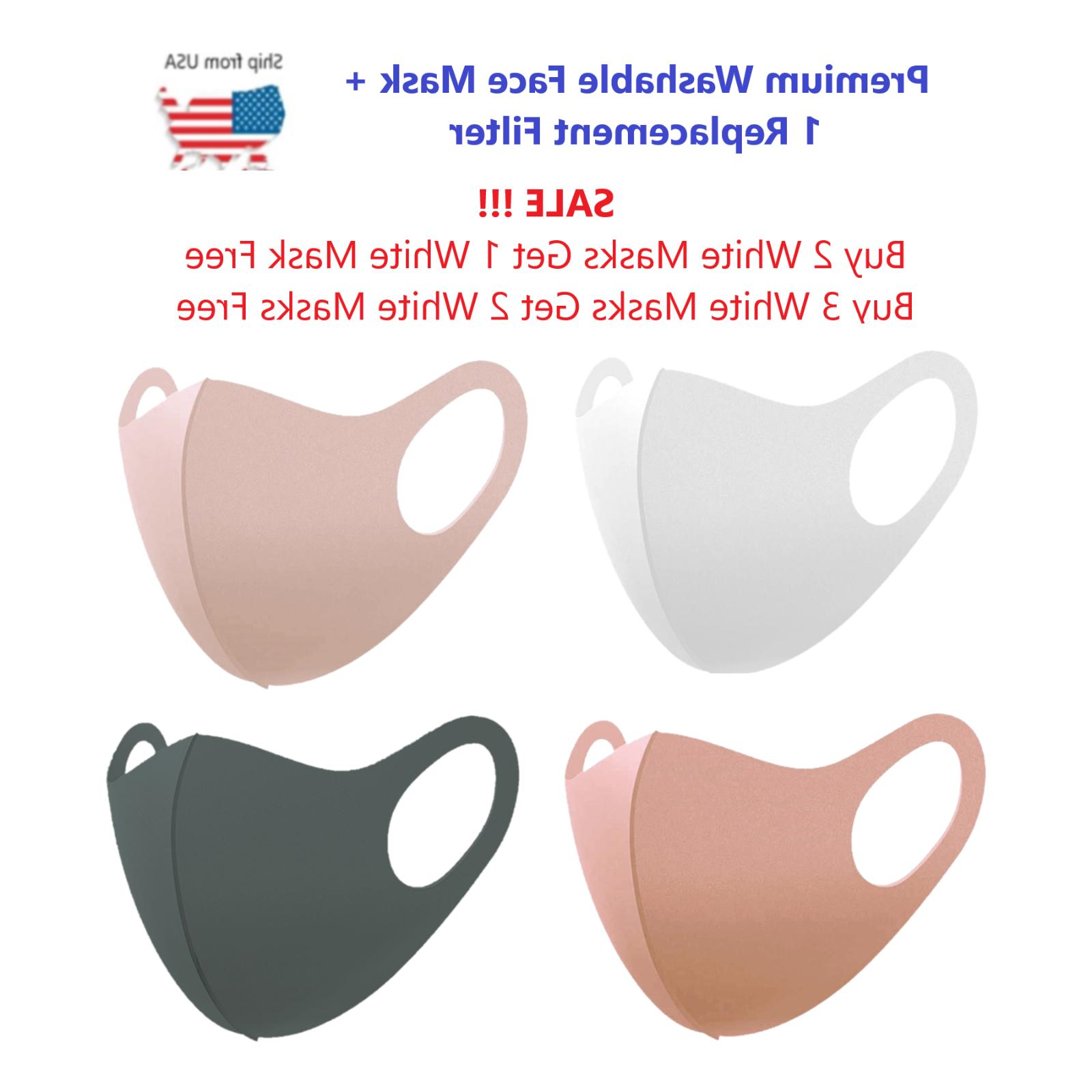 fashion washable reusable face mask with filter