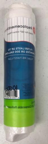 Fits GE GXRLQR Comparable ReplacementBrand Inline Water Filt