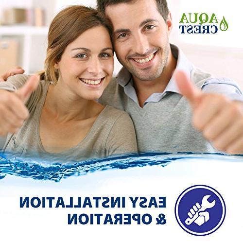 AQUACREST Whole House Water Filter, 3M Aqua-Pure WHKF-GD25BB, 5 Micron