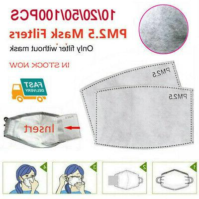 10-100Pcs PM2.5 Activated Carbon Filter Replacement 6 Layers