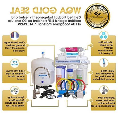 iSpring Taste High Capacity Sink Drinking Water Alkaline Natural pH Gold Certified