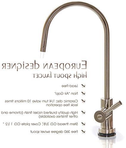 iSpring 6-Stage Taste High Capacity Under Sink Water Filter Alkaline Remineralization pH Gold Certified