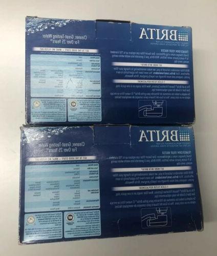 Lot 6 New BRITA Faucet FILTERS White Color Boxes Total