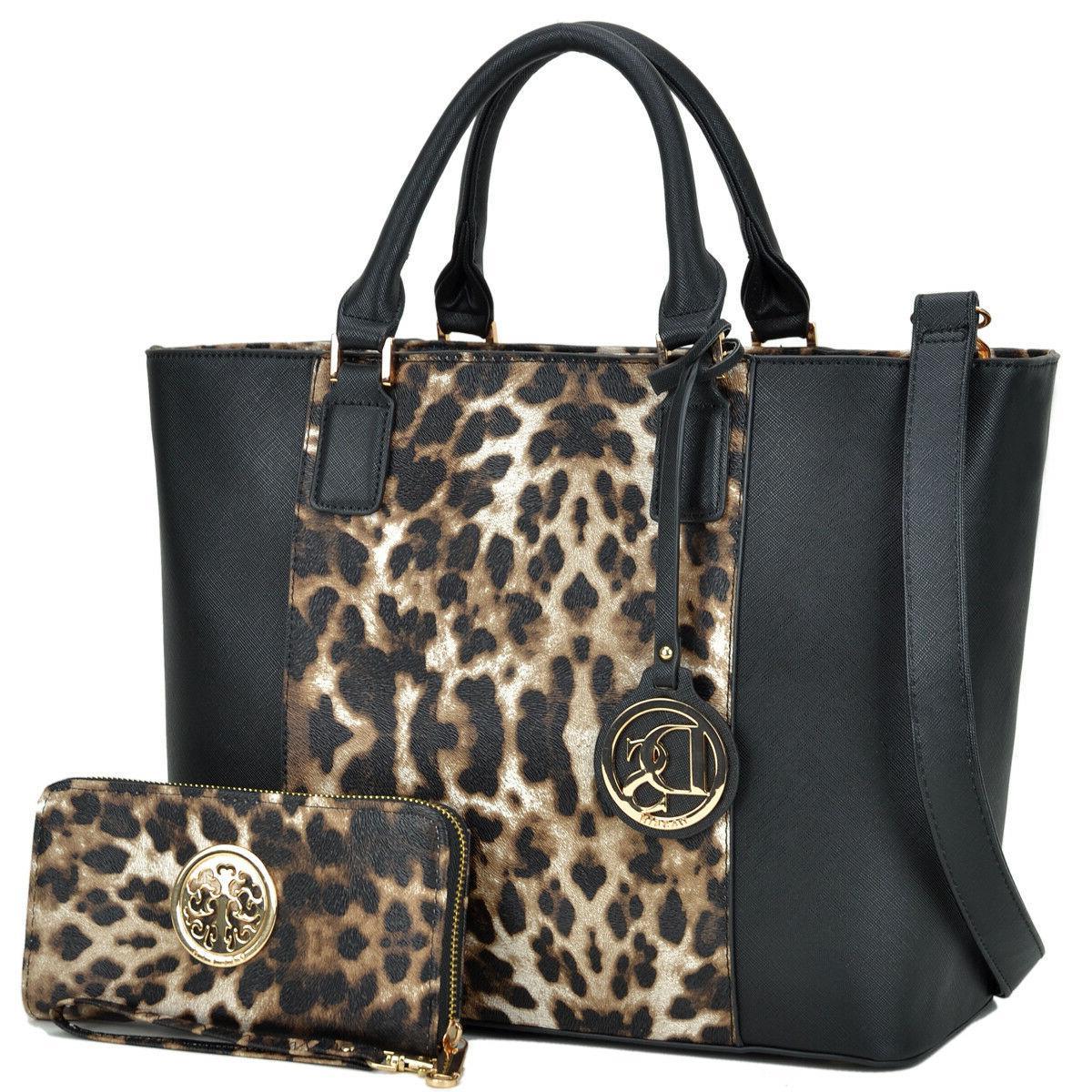 Dasein Women Faux Leather Handbag Shoulder Bag Tote Purse Sa