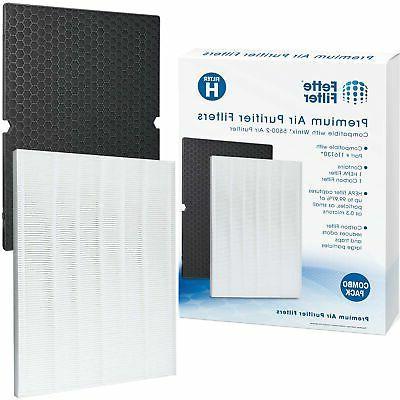 premium air purifier replacement filter set compatible