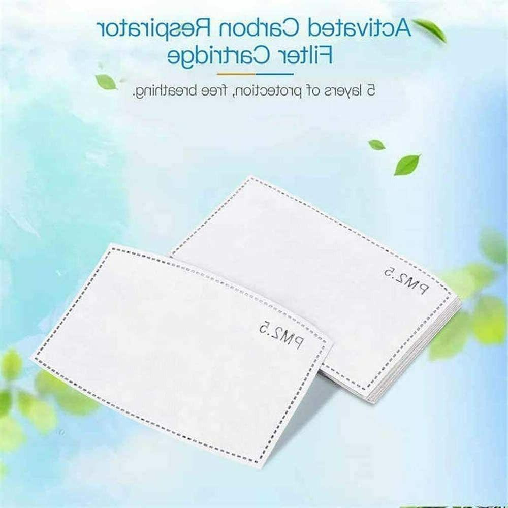 Reusable Face Mask PM2.5 Activated Carbon 5 Layer 10-50pcs