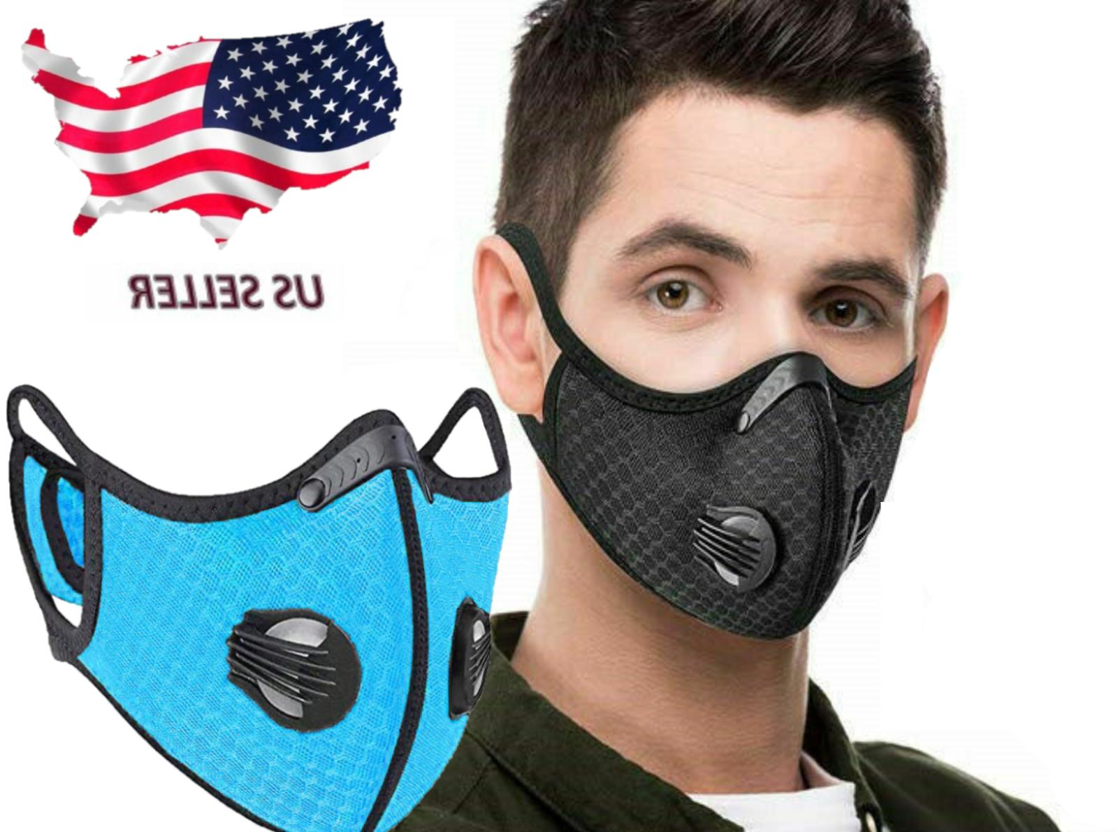 usa seller face mask with replaceable filter