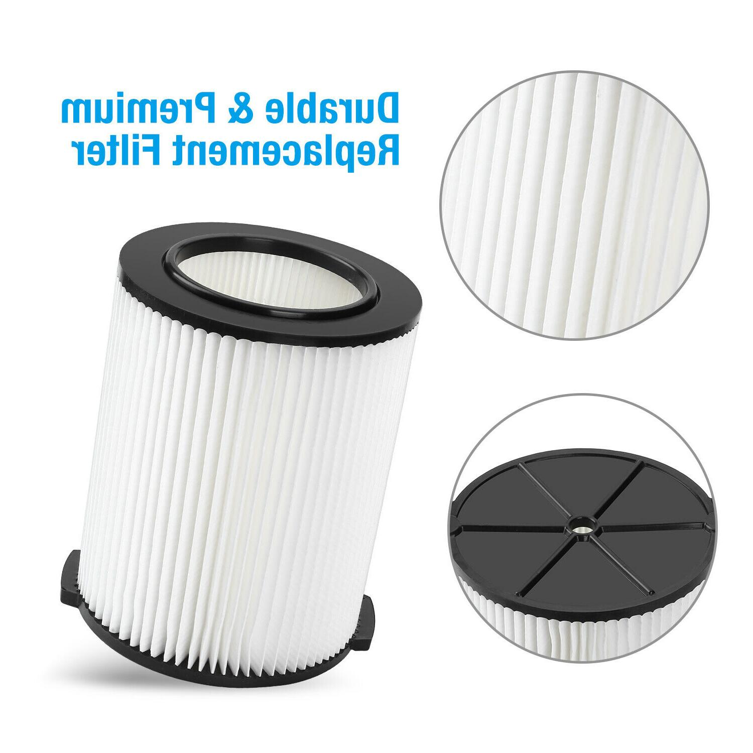 Replacement Filter Vacs Compatible Ridgid 5-20 Gallon Wet/Dry