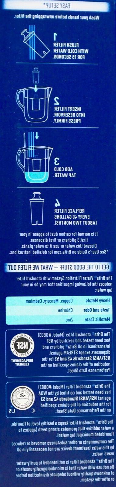 Brita Pitcher Replacement Filters 40 Gallon Refill,