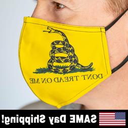 Large Don't Tread On Me - Yellow Face Mask – INCLUDES 2 FI