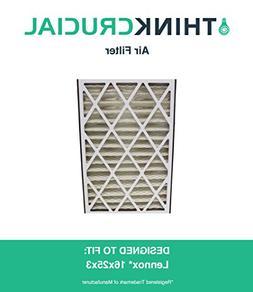 Lennox 16x25x3 Merv 8 Replacement Air Filter, Fits X0581 & H