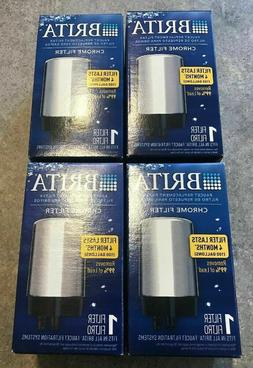 NEW IN BOX 4 Brita Chrome Faucet Replacement Water Filters R
