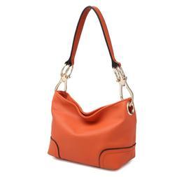 Dasein Women Handbag Corner Patched Hobo Tote Bag Shoulder M