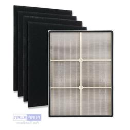 Pureburg Replacement HEPA Filter+4 x carbon for Whirlpool 11