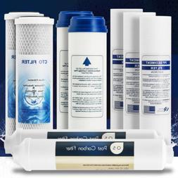 Replacement 9 Pcs Reverse Osmosis Water Filter Set Cartridge