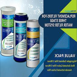 Replacement Filters for Under Sink  Three Stage Water Filtra