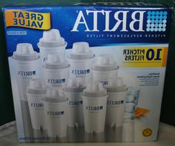 Brita Replacement Pitcher Water Filters 10 Pack - NEW
