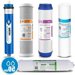 Reverse Osmosis Replacement Filter Set RO Cartridges 5 pcs,