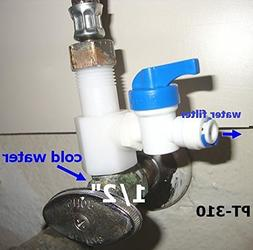 Reverse Osmosis RO Water Feeder Adapter 1/2 3/8 3/4 Sink Fau
