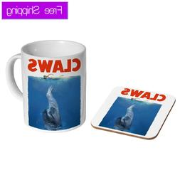 Sloth Claws Jaws Ceramic Tea - Coffee Mug Coaster Gift Set P