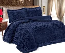 """Comforter Set Supreme Plush 90""""Hx90""""W Comforter/20""""Hx26""""W 2S"""