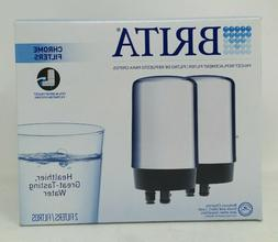 Brita Water Faucet Replacement Filters fits 2 Pack Chrome -