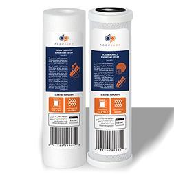 "Set of 2 AquaBoon Standard 10"" Size Water Filter Cartridges"