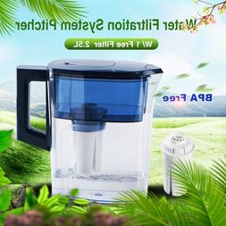 Water Filter Jug Kitchen Coolers Pitcher Lockable Lid With F