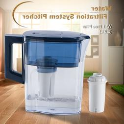 Water Pitcher Food Grade Material BPA Free with 4 Stage Fluo