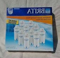 Brita Water Pitcher Replacement Filters 10 Pack Item 766229