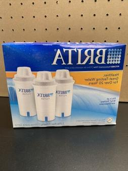 Brita Water Pitcher Replacement Filters, White 3 Pack New in