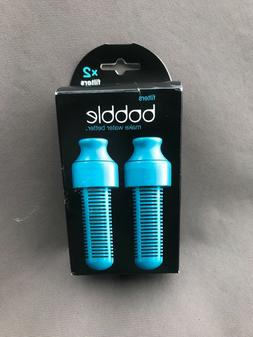 Bobble Water Replacement Filters  NEW IN BOX Aqua Blue 2 P